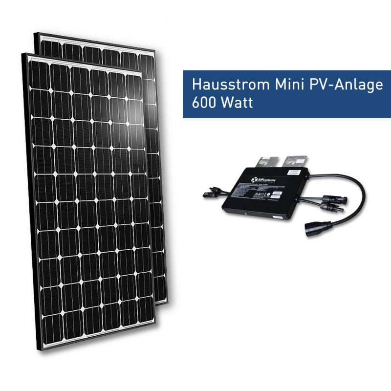 hausstrom mini pv anlage 400 watt solarmodule fabr. Black Bedroom Furniture Sets. Home Design Ideas