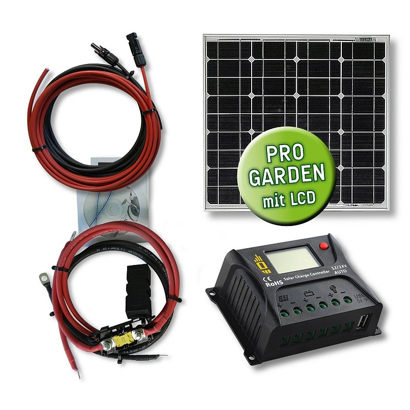 20 watt garten solar set mini typ gs 20 12 10 pwm. Black Bedroom Furniture Sets. Home Design Ideas