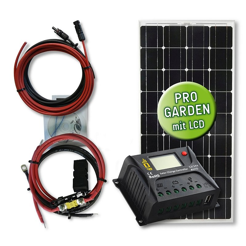 105 watt garten solar set standard typ gs 105 12 10 pwm laderegler 199 90 off grid. Black Bedroom Furniture Sets. Home Design Ideas