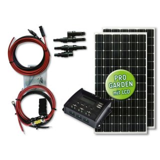 330 Watt Garten Solar-Set MAXI POWER - Typ GS  330 - 12 / 30  [PWM Laderegler]
