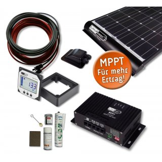 210 Watt Wohnmobil Solar Set - MPPT 350 DUO- Black -  LiMoPower